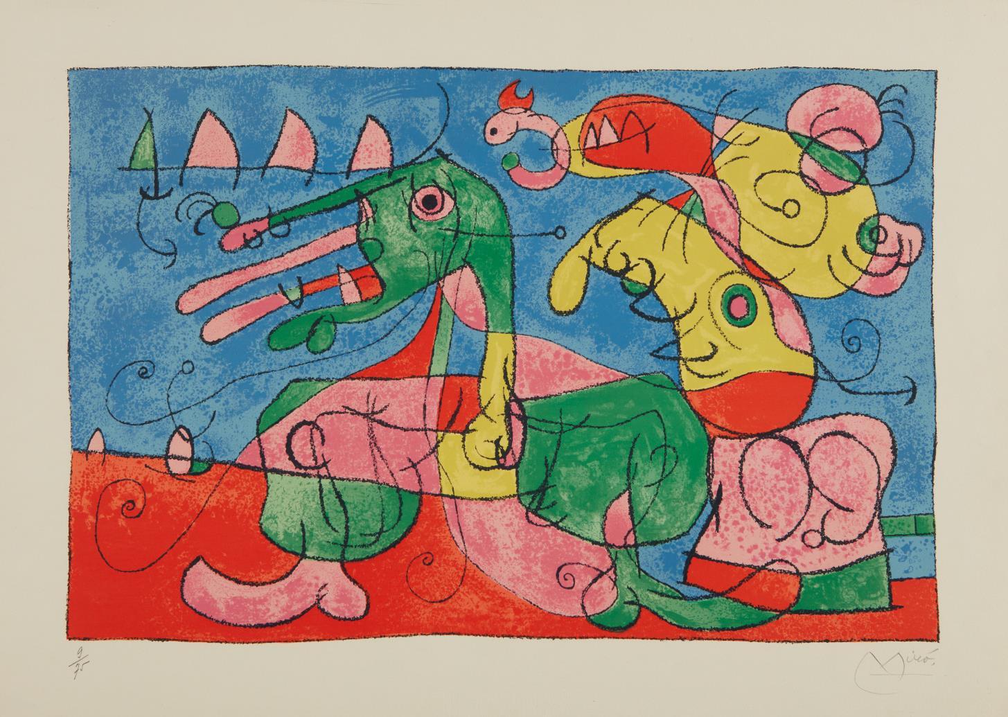 Joan Miro-Suites Pour Ubu Roi: Plate 8-1966