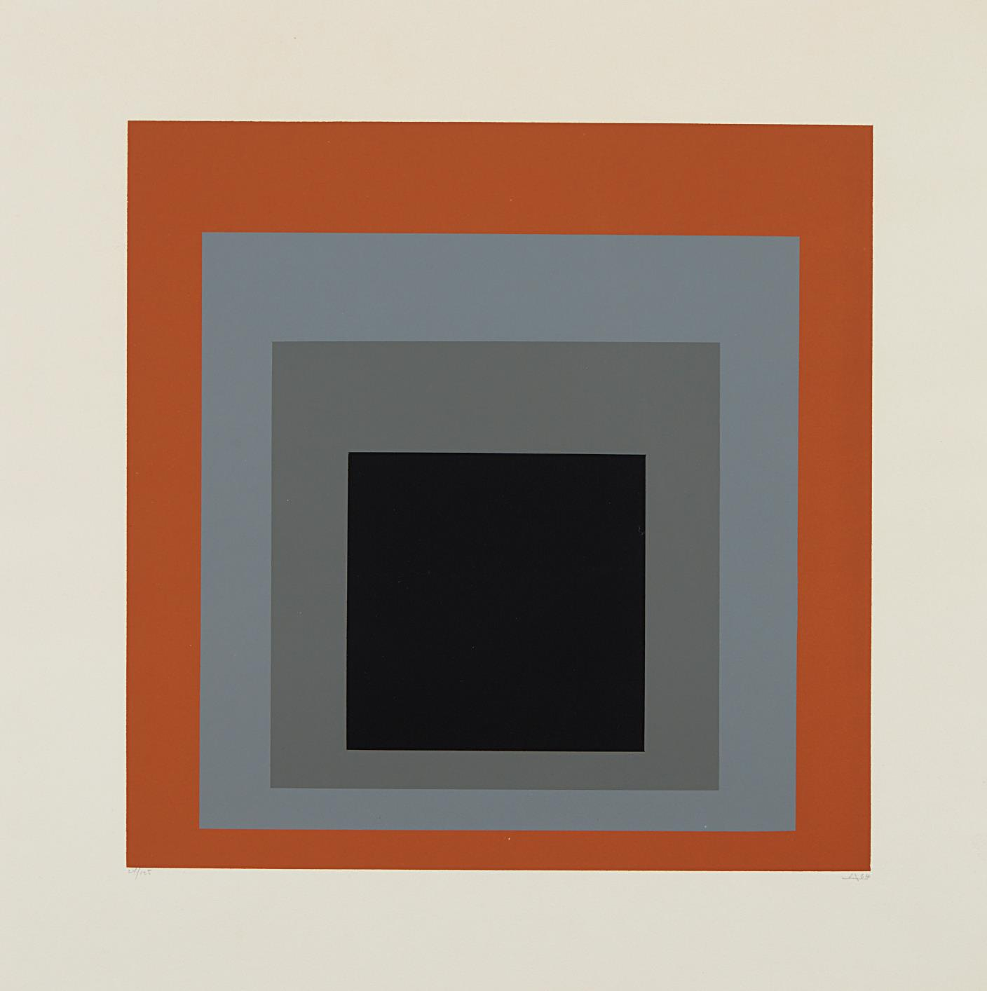 Josef Albers-Hommage Au Carre: One Plate-1965