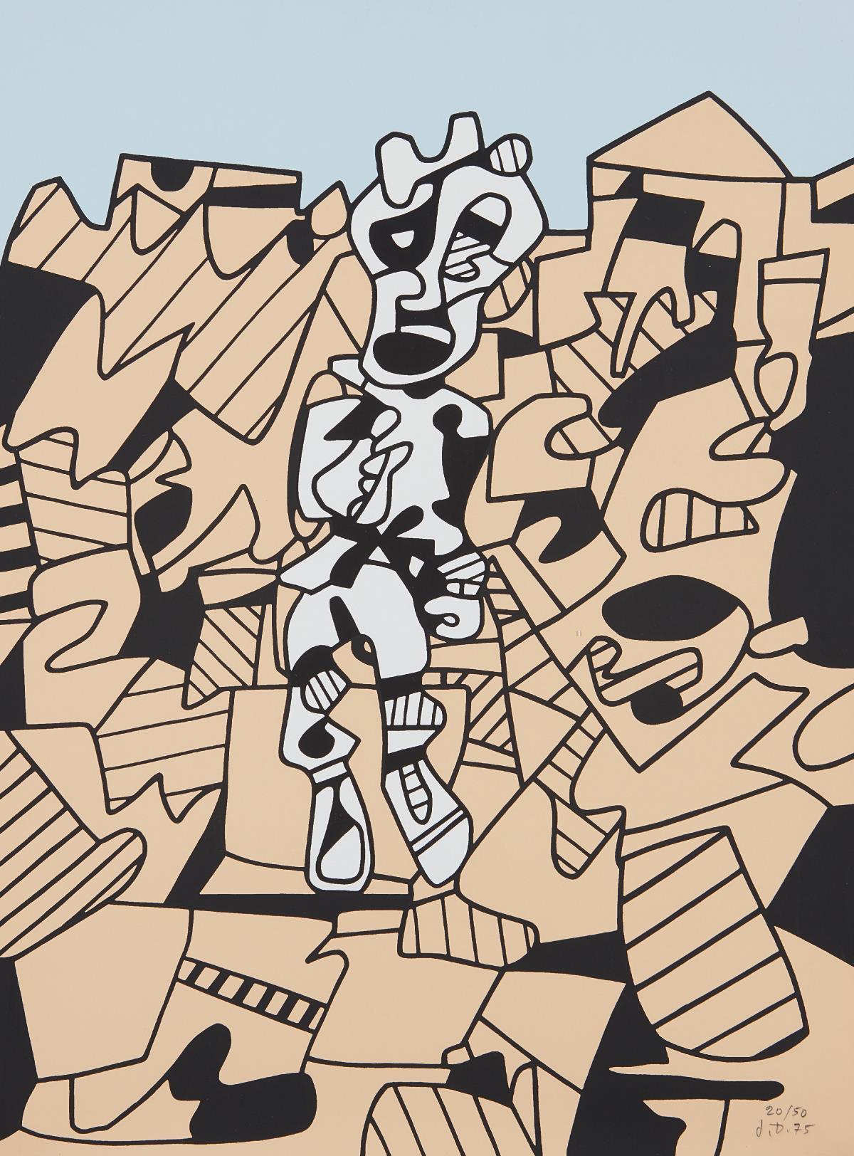 Jean Dubuffet-Territoire Et Paysan-1975