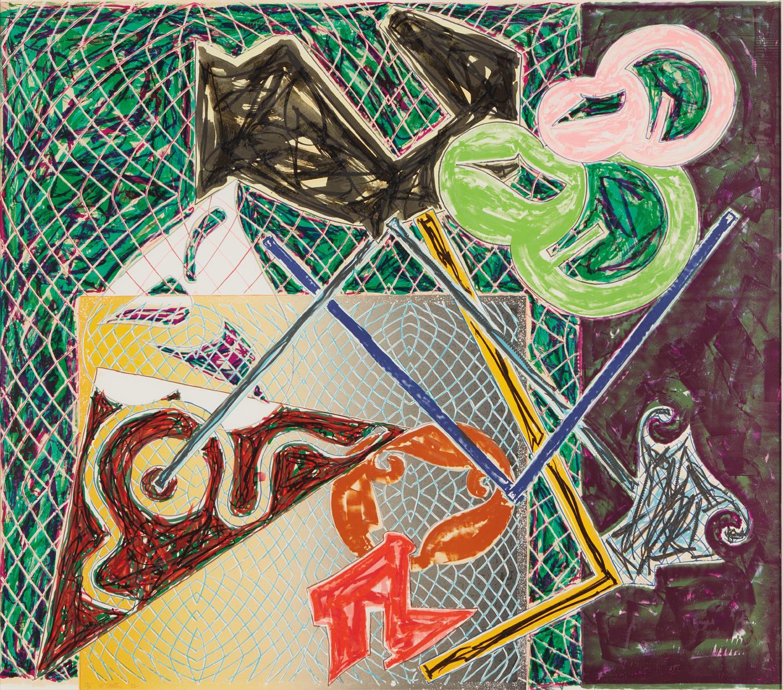 Frank Stella-Shards Va-1982