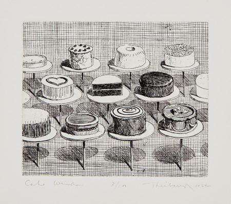 Wayne Thiebaud-Cake Window, From Delights-1964