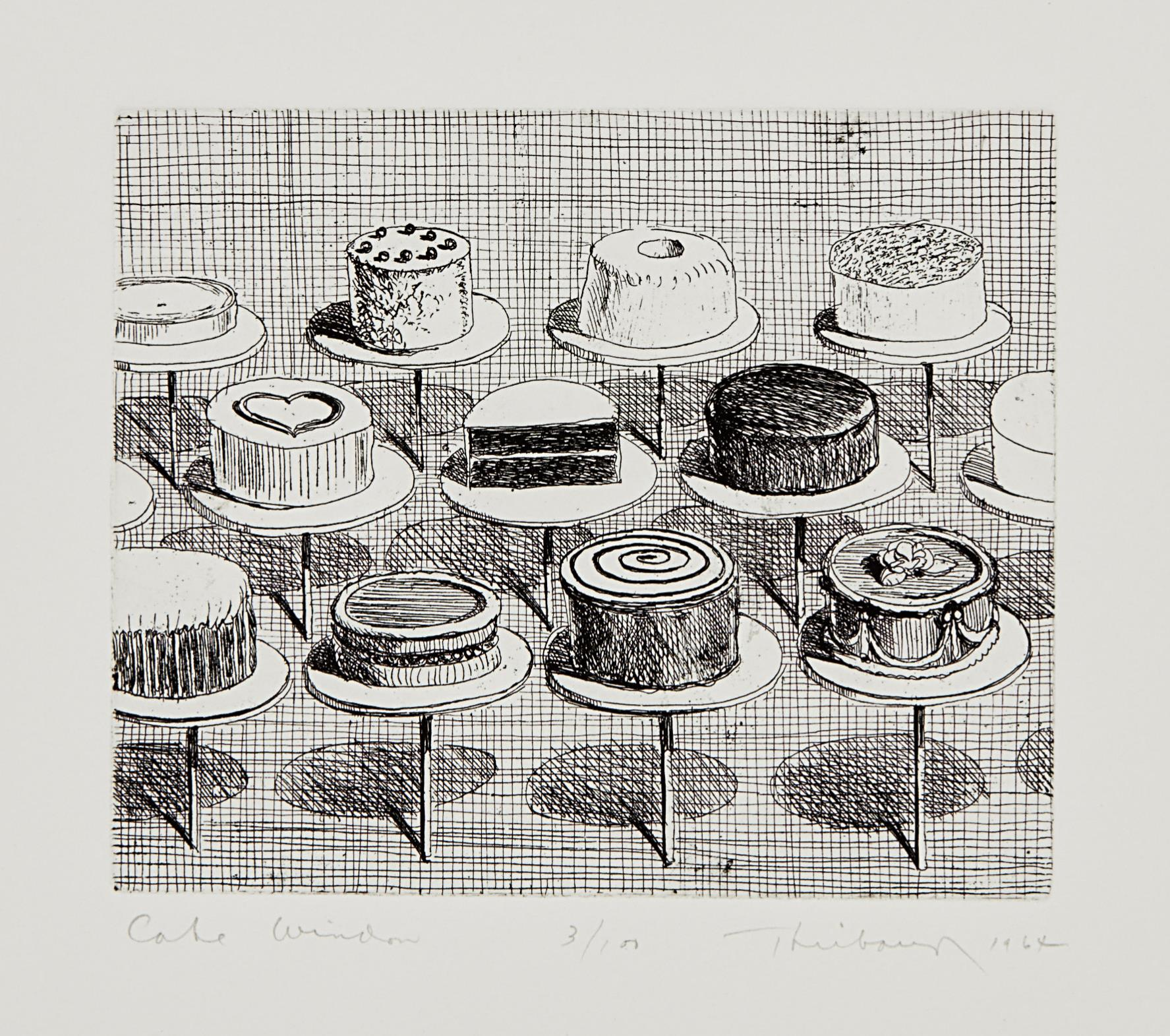 Wayne Thiebaud-Cake Window, From Delights-1964