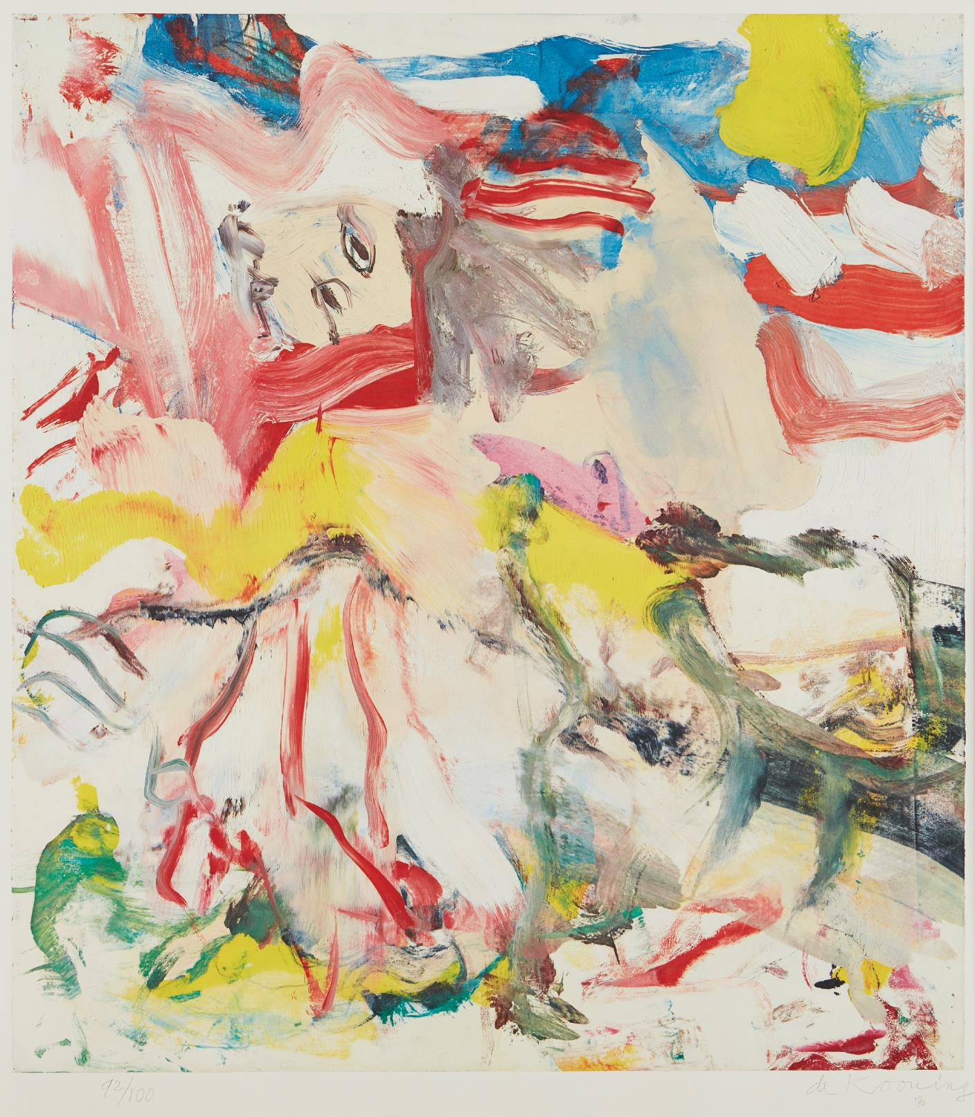 Willem de Kooning-Figure In Landscape VI-1980