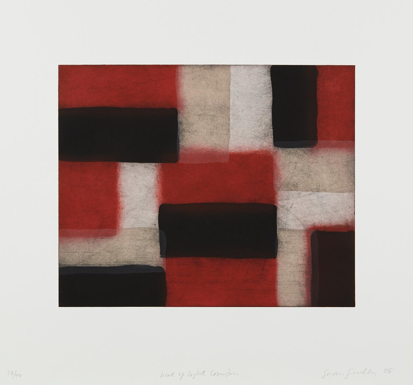 Sean Scully-Wall Of Light Crimson-2005