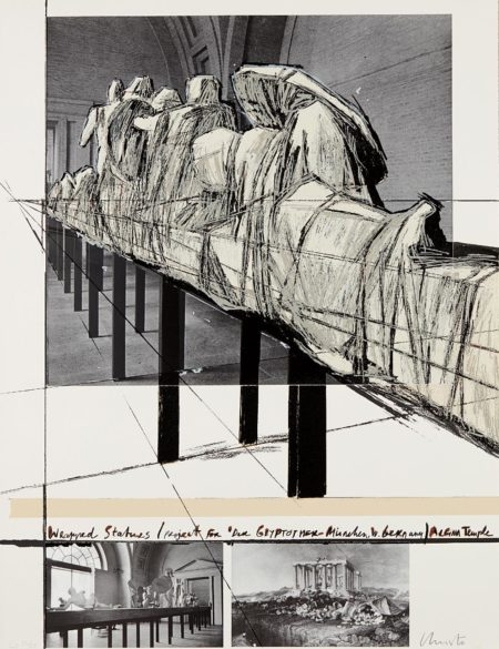 Christo And Jeanne-Claude - Wrapped Statues, Project For Die Glyptothek, Munchen-1988