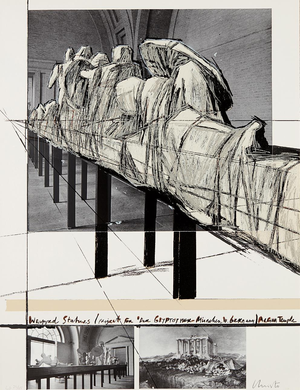 Christo and Jeanne-Claude-Wrapped Statues, Project For Die Glyptothek, Munchen-1988