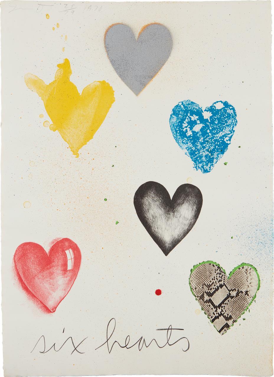 Jim Dine-Six Hearts-1970