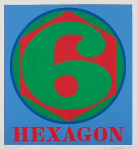 Robert Indiana-Hexagon, From Polygons-1975