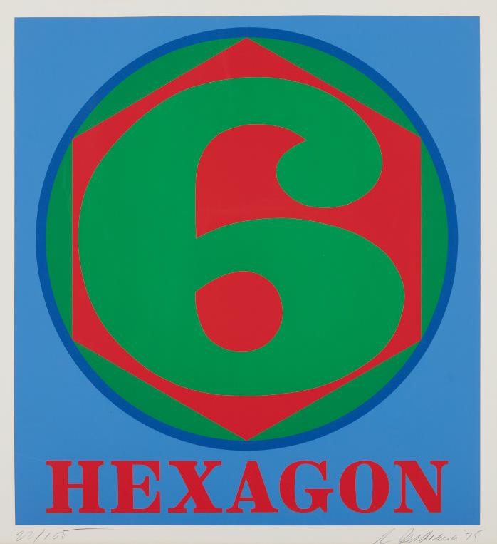 Robert Indiana-Hexagon, From Polygons-1975