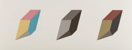 Sol LeWitt-Forms Derived From A Cube In Color (Simple & Superimposed) & Black & Grey, Plate 3-1985