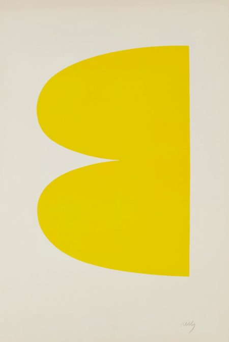 Ellsworth Kelly-Yellow (Jaune), From Suite Of Twenty-Seven Color Lithographs-1965