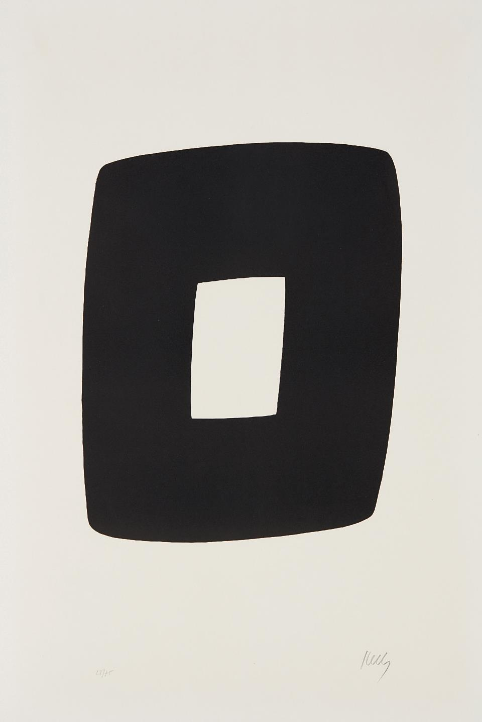 Ellsworth Kelly-Black With White-1965