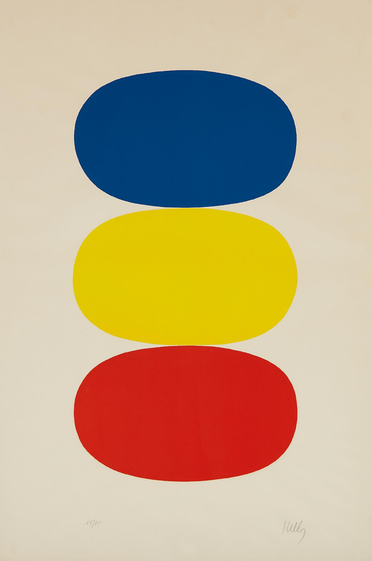 Ellsworth Kelly-Blue And Yellow And Red-Orange-1965