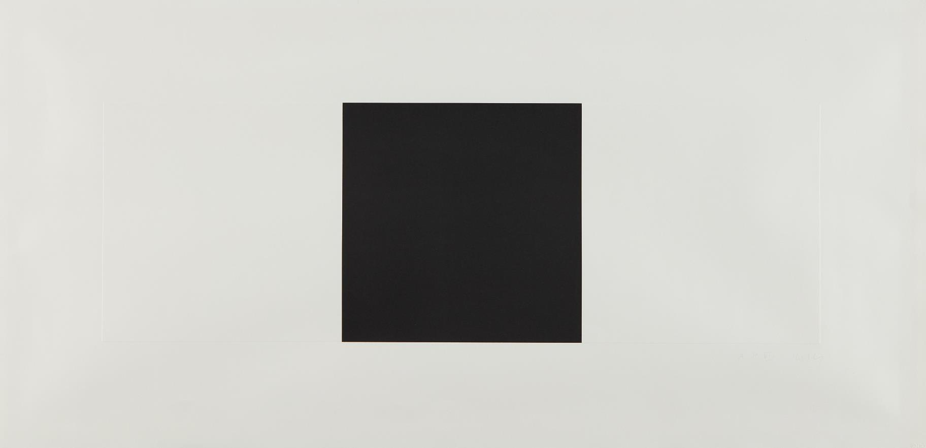 Ellsworth Kelly-Two Whites And Black-1973