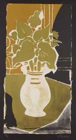 Georges Braque-Feuilles, Couleur Lumiere (Leaves, Light Color)-1953