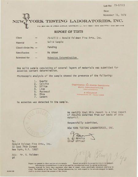 Joseph Beuys-Report Of Tests-1979