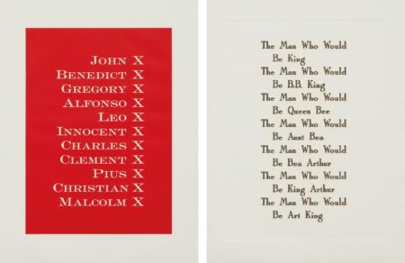 Kay Rosen - Palimpsest; And The Man-1991