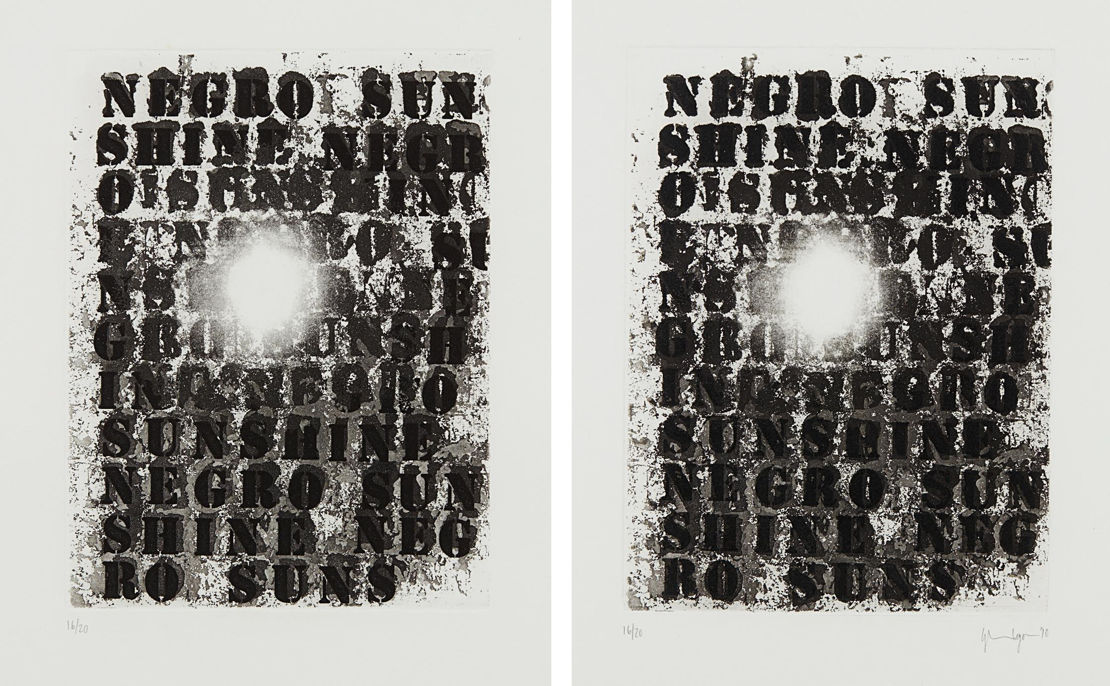 Glenn Ligon-Untitled 1; And Untitled 2-2010