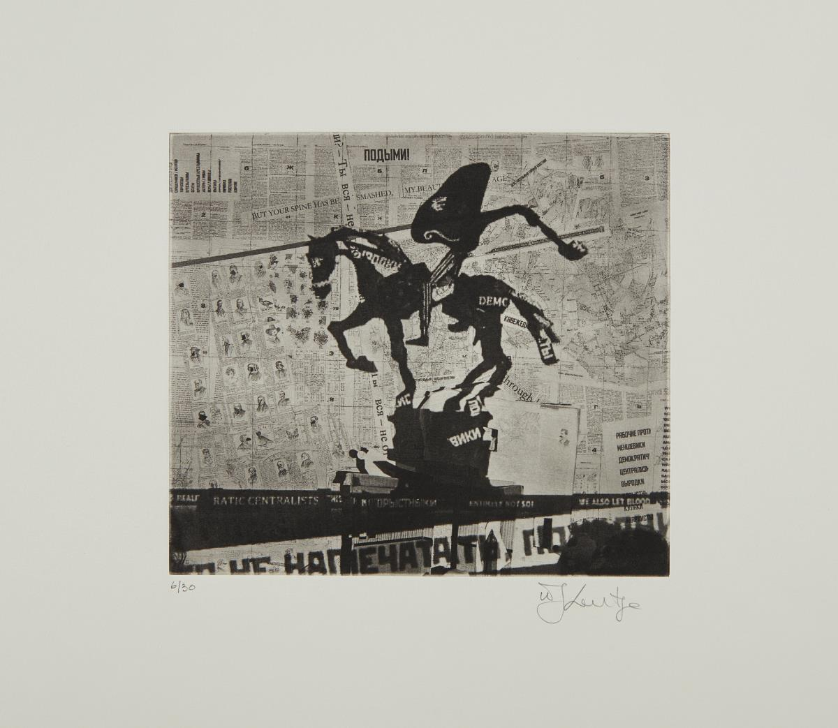 William Kentridge-Nose On A Horse Projection-2010