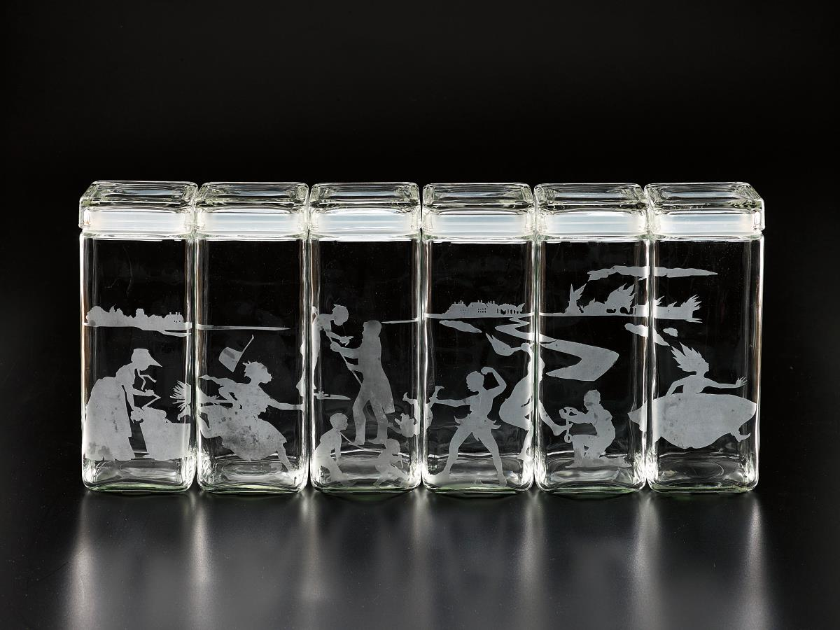 Kara Walker-Untitled (Canisters)-1997
