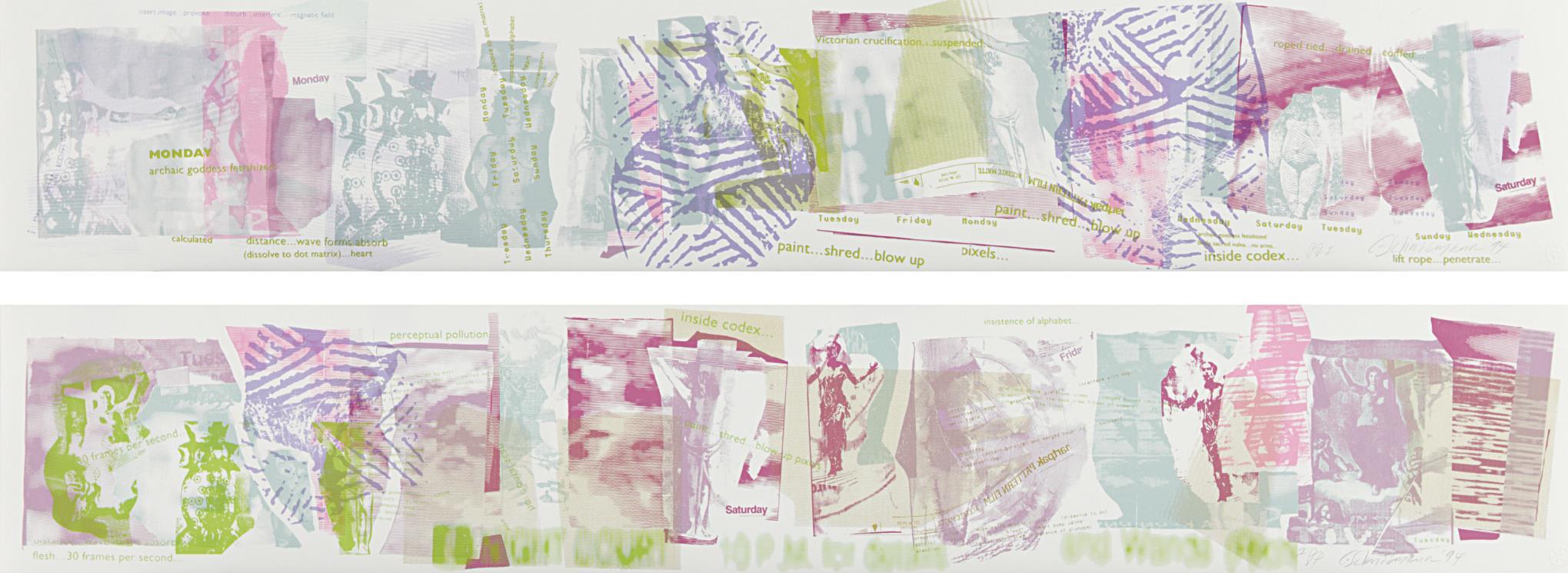 Carolee Schneemann-Monday; And Saturday-1994