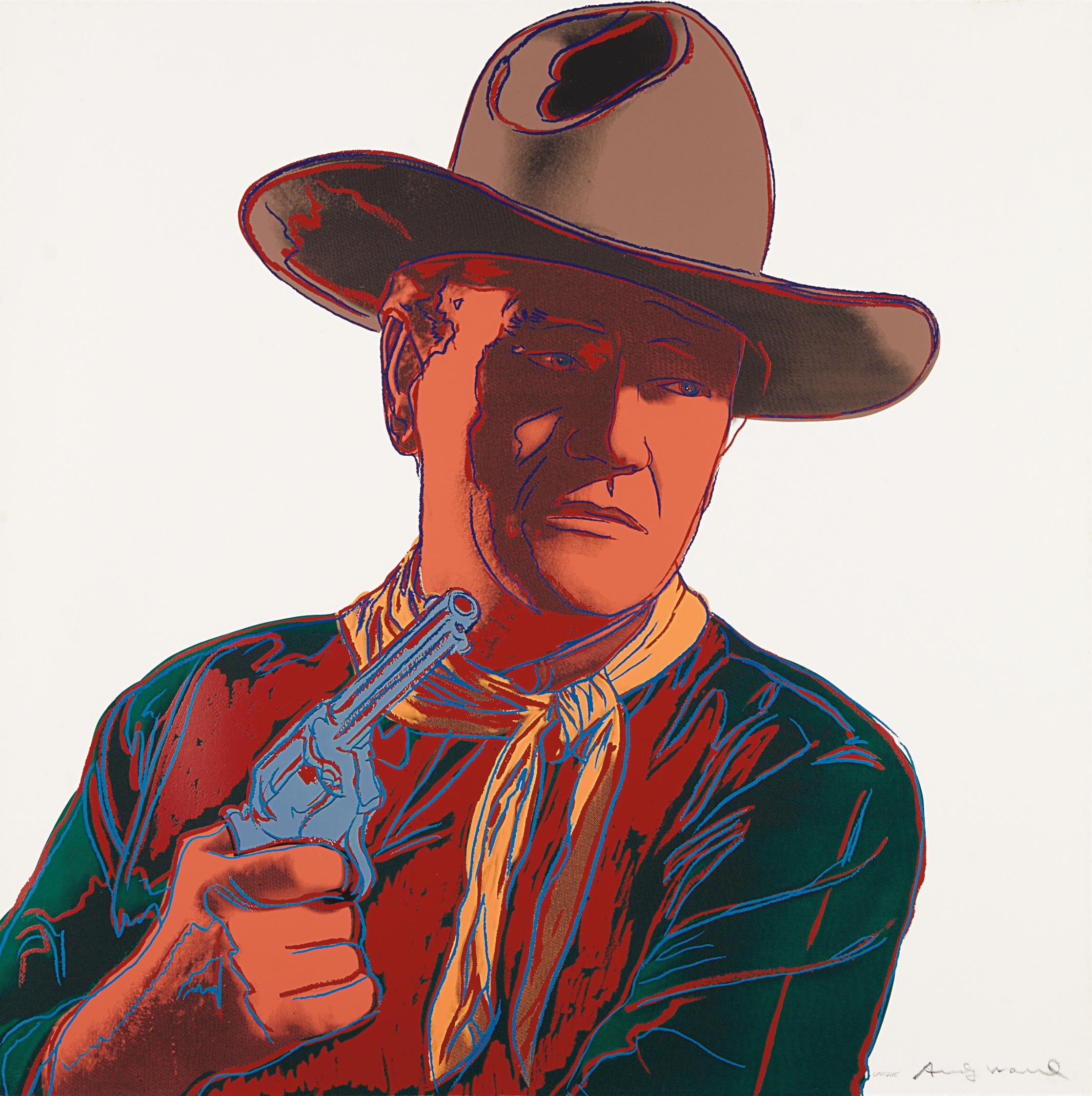 Andy Warhol-John Wayne, From Cowboys And Indians-1986