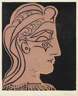 Pablo Picasso-Tete De Femme (De Profil) (Head Of A Woman - In Profile)-1959