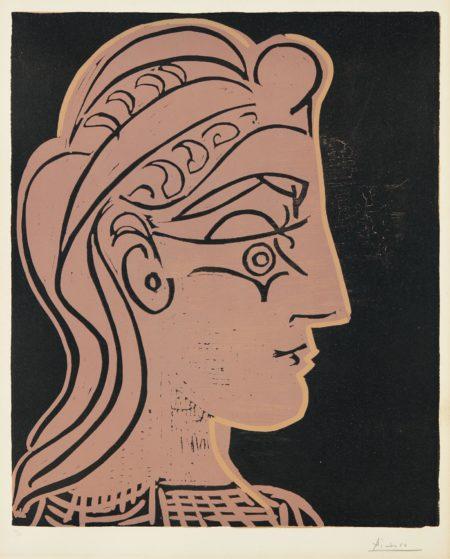 Pablo Picasso-Tete De Femme (De Profil) (Head Of A Woman - In Profile)-1959