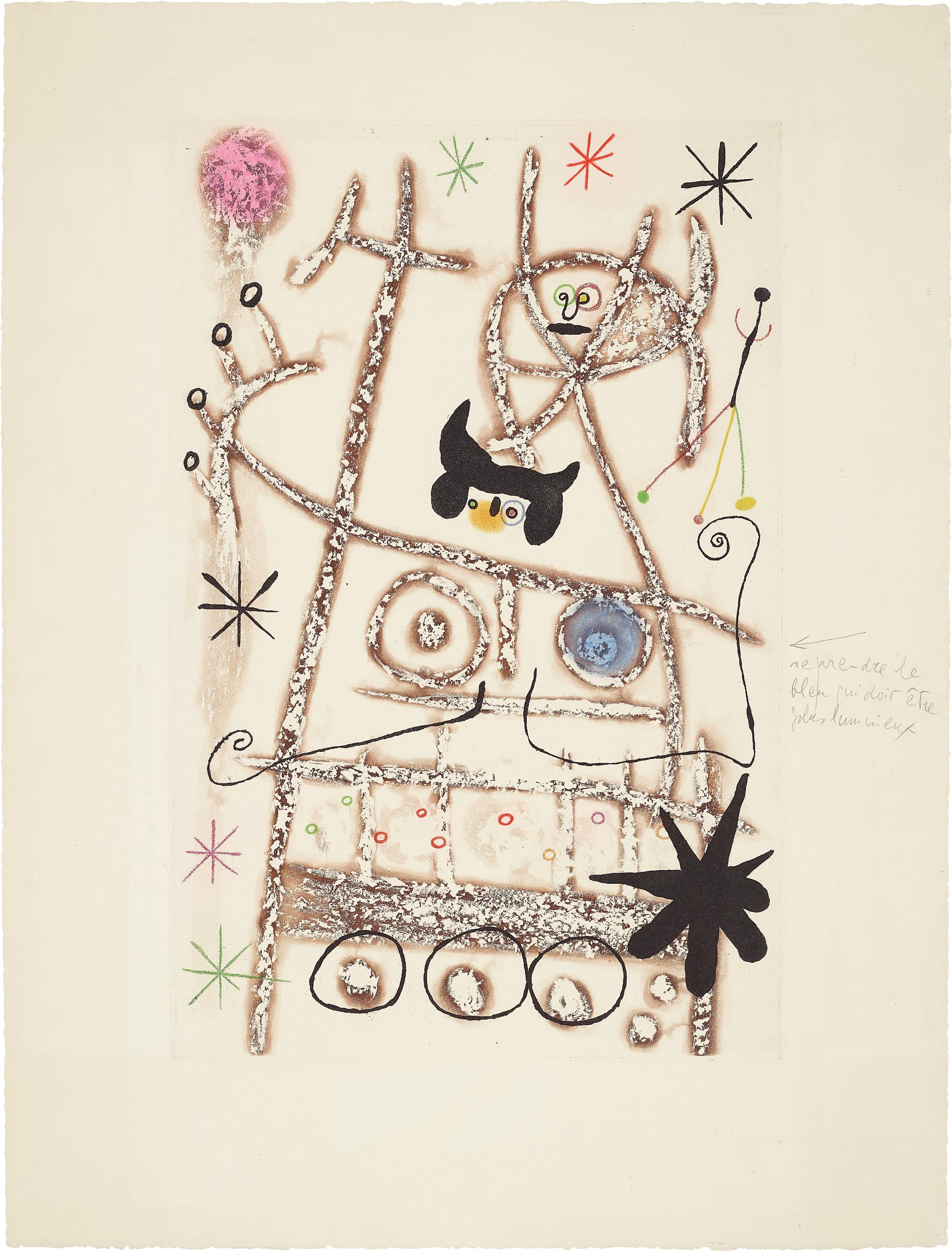 Joan Miro-Les Forestiers (Bistre) (The Foresters - Dark Brown)-1958