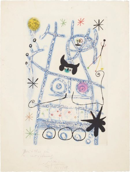 Joan Miro-Les Forestiers (Bleu) (The Foresters - Blue)-1958