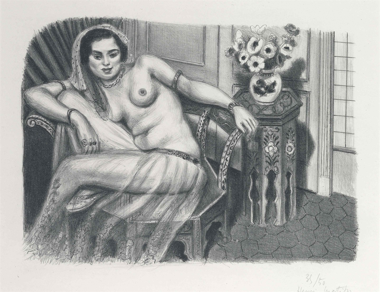 Henri Matisse-Hindoue A La Jupe De Tulle-1929