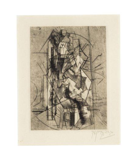Pablo Picasso-L'Homme A La Guitare-1915