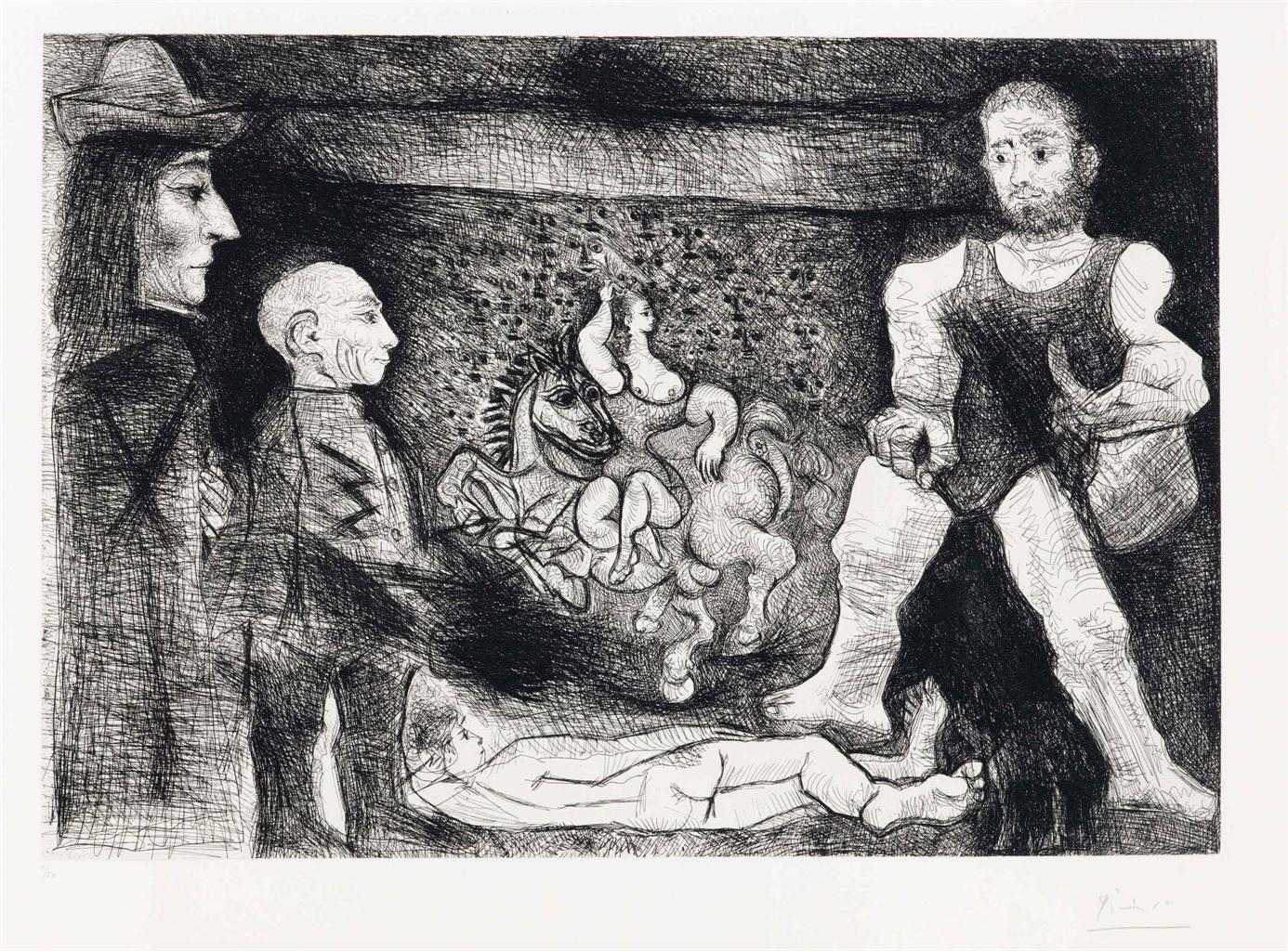 Pablo Picasso-Picasso, Son Oeuvre, Et Son Public, From La Serie 347-1968
