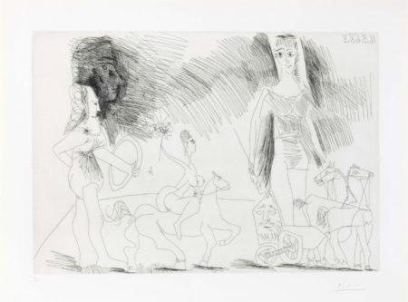 Pablo Picasso-Ecuyeres Et Jongleuse, From La Serie 347-1968