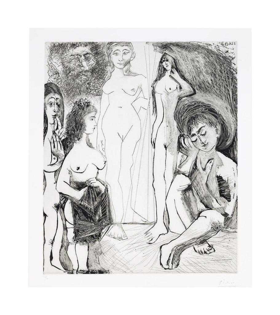 Pablo Picasso-Jeune Garcon Revant: Les Femmes!, From La Serie 347-1968