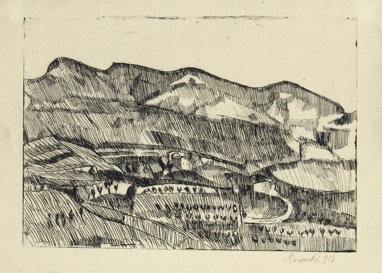 Giorgio Morandi-Paesaggio Grizzana-1913