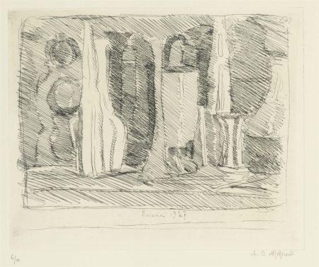 Giorgio Morandi-Natura Morta A Tratti Veloci-1927