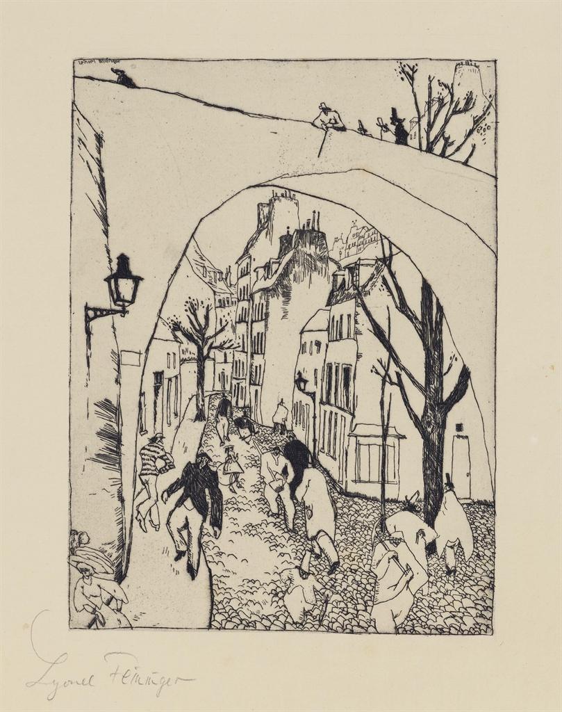 Lyonel Feininger-Die Grune Brucke (The Green Bridge)-1911