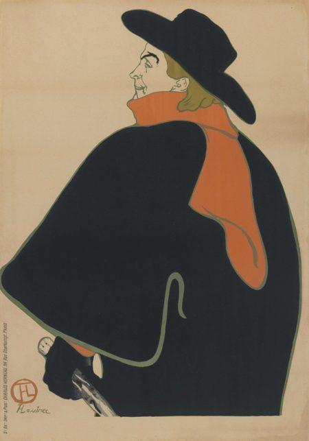 Henri de Toulouse-Lautrec-Aristide Bruant, Dans Son Cabaret-1893