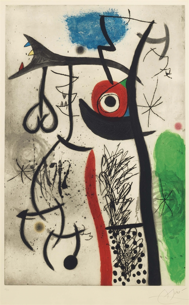 Joan Miro-Letrangle-1974