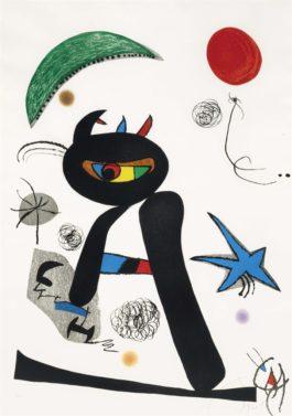 Joan Miro-Barbare Dans La Neige-1976