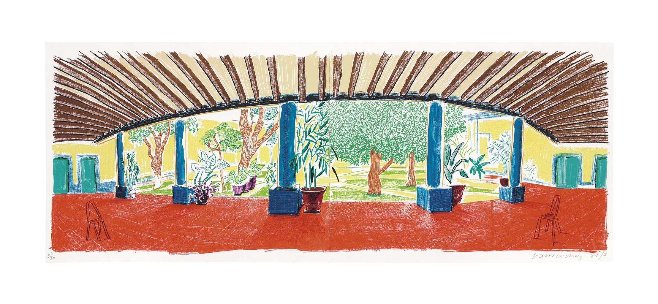 David Hockney-Hotel Acatlan: First Day, From Moving Focus-1985