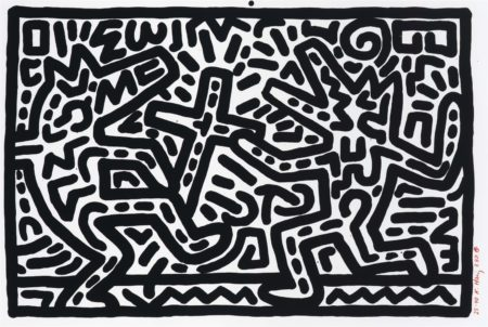 Keith Haring-Untitled 1-6: One Plate-1982