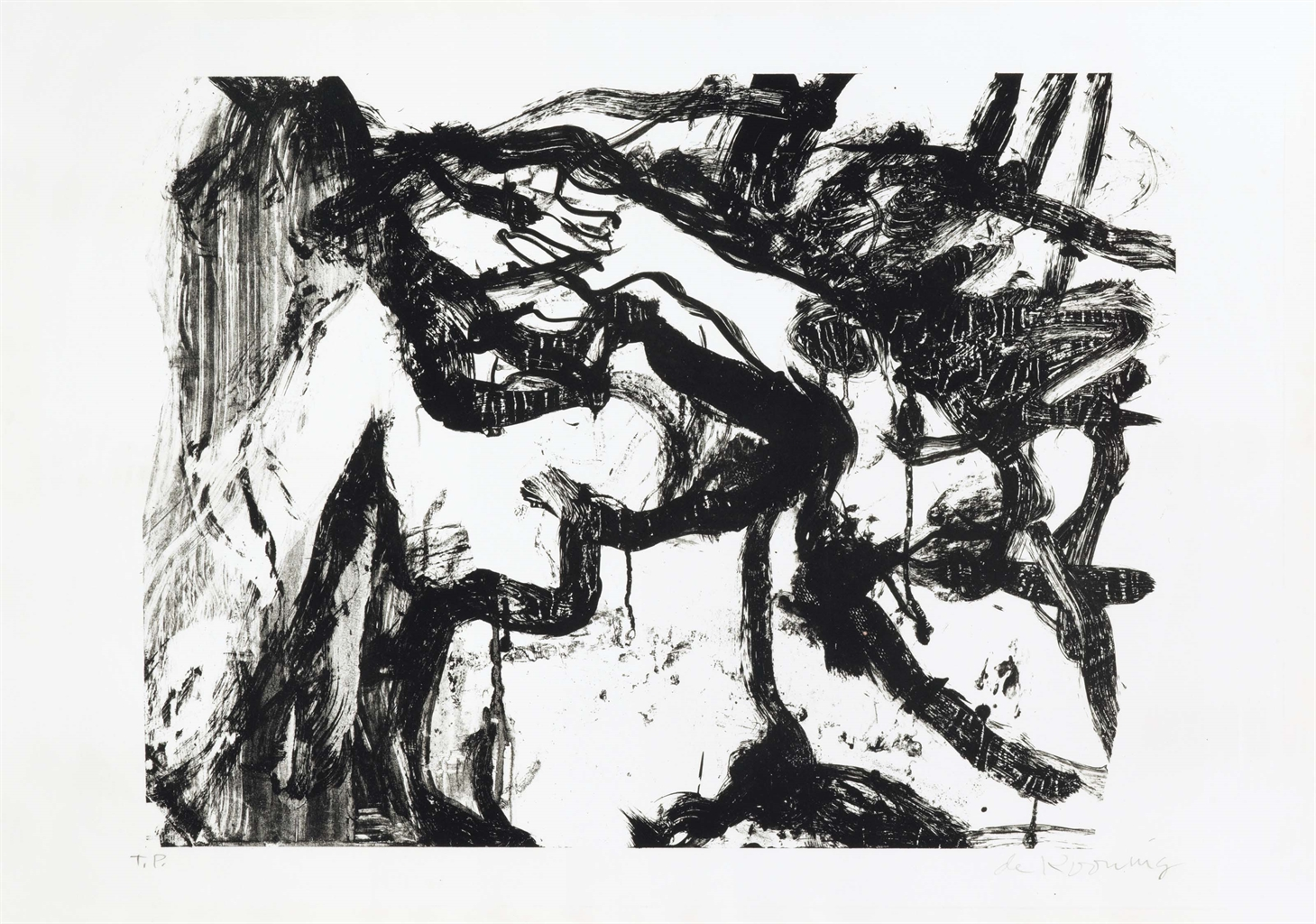 Willem de Kooning-Untitled (Small Animal)-1971