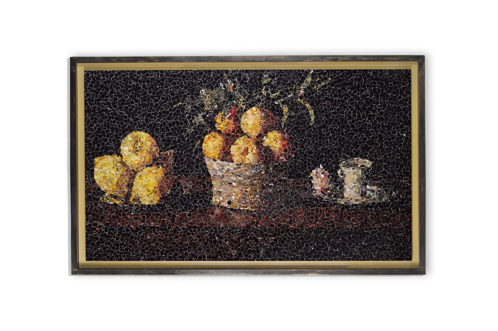 Vik Muniz-Still Life With Lemons, Oranges, And A Rose, After Francisco De Zurbaran, From Pictures Of Magazines-2004
