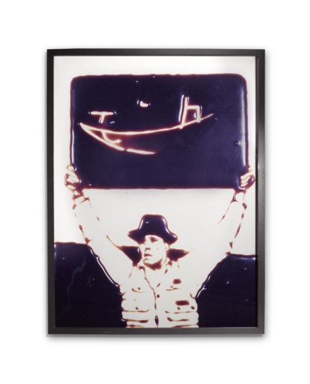 Vik  Muniz - Teacher (Joseph Beuys), From Pictures In Chocolate-1999