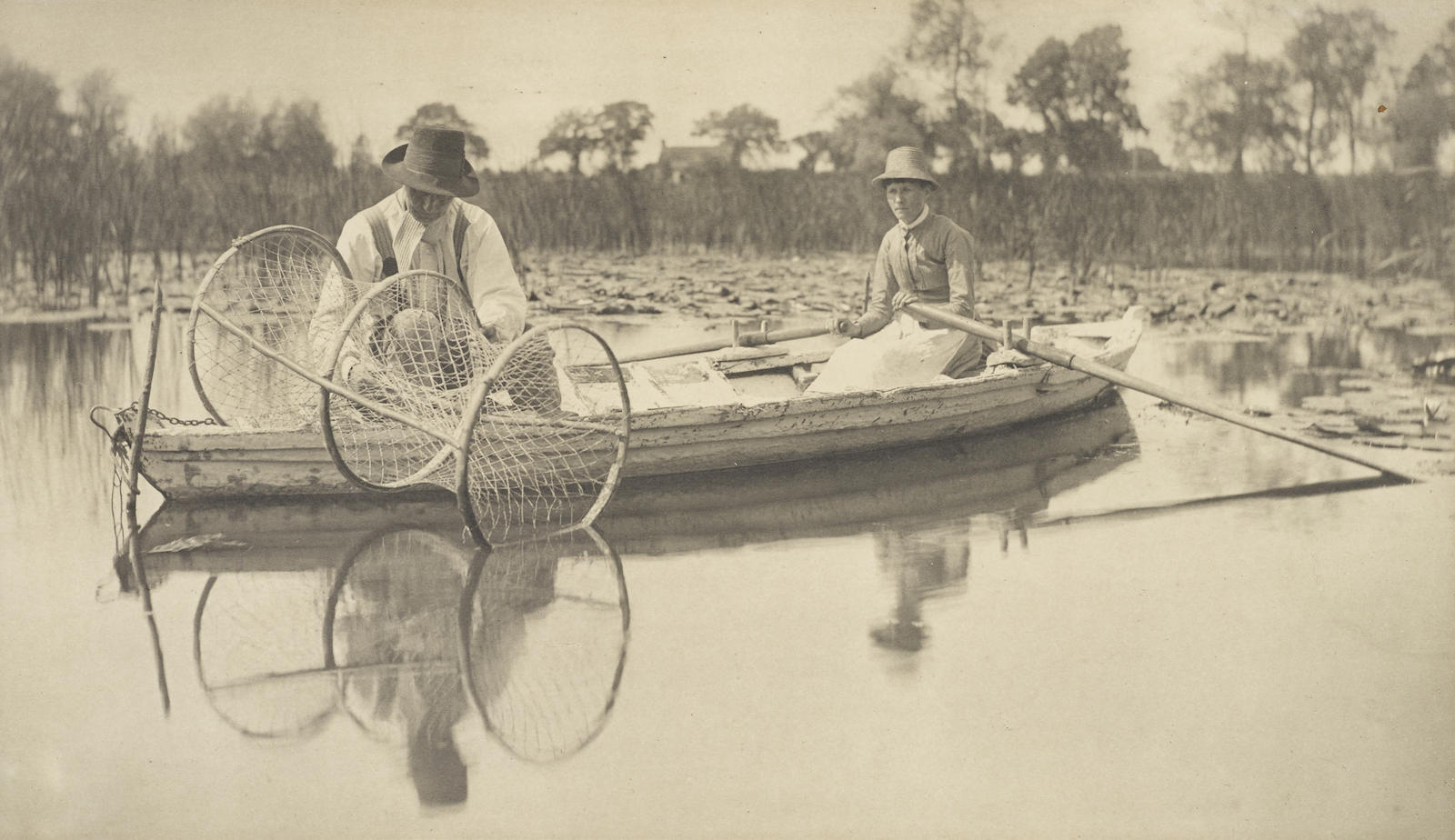 Peter Henry Emerson-Setting The Bow-Net, Pl. 2, From Life And Landscape On The Norfolk Broads-1886
