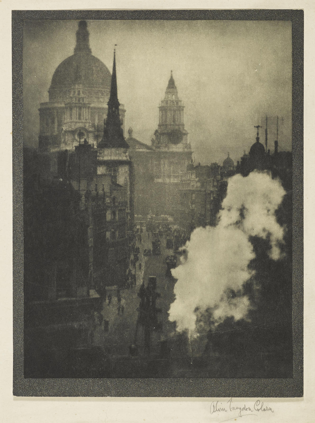 Alvin Langdon Coburn-St. Pauls From Ludgate Circus, London-1905