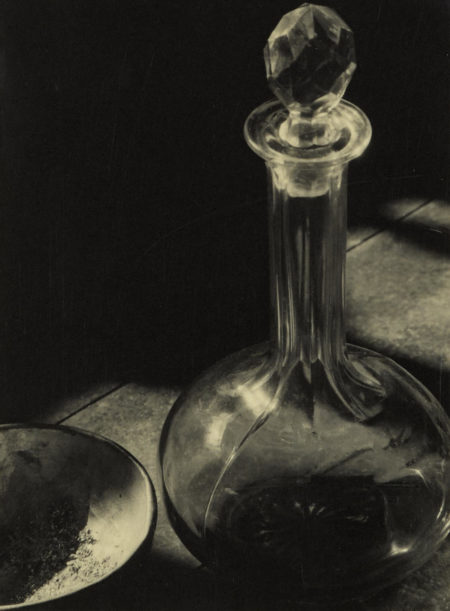Ansel Adams-Untitled (Glass, Decanter, And Bowl)-1929
