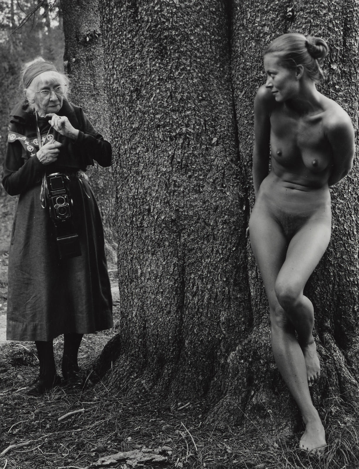 Judy Dater-Imogen Cunningham And Twinka At Yosemite-1974